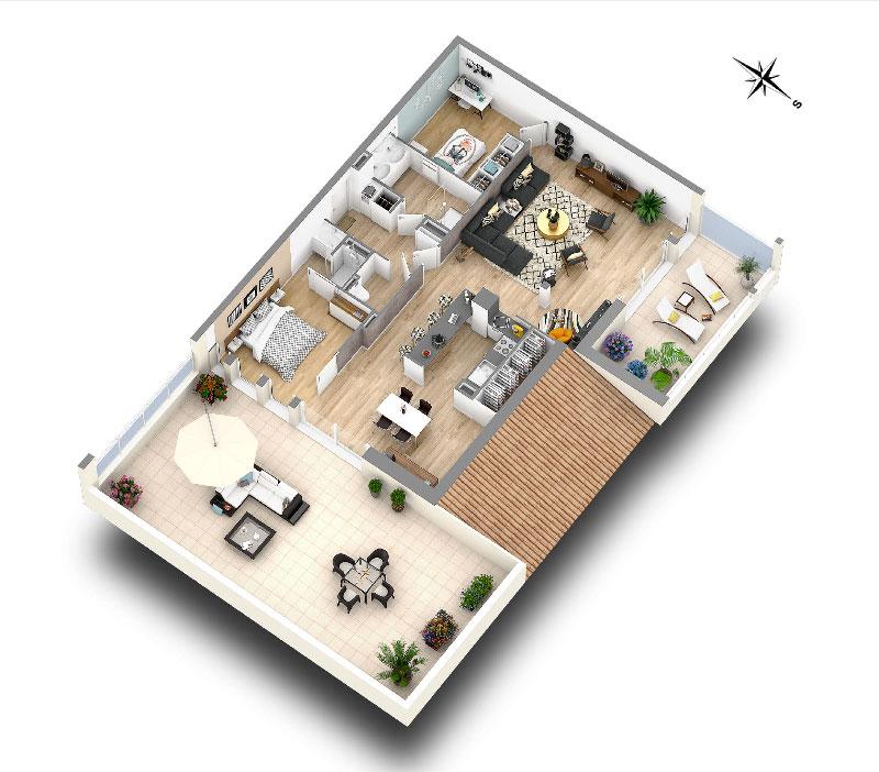 Biarritz, programme immobilier neuf - Pavillon Milady Achat T3